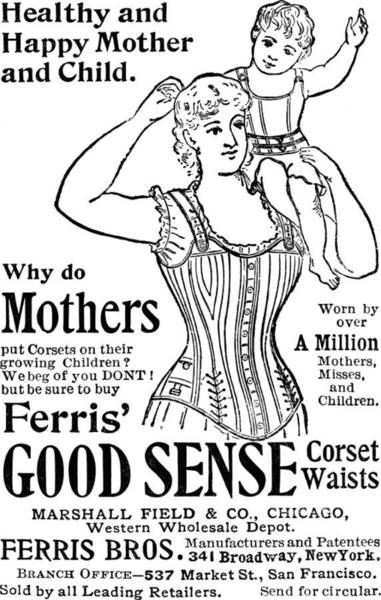 Product Mixed Media - Ferris Good Sense Corset Waists - Marshall Field And Co - Chicago, New York by Studio Grafiikka