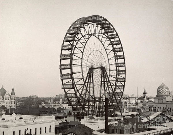 Turn Of The Century Wall Art - Photograph - Ferris Wheel, 1893 by Granger