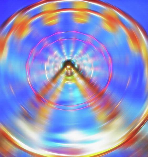Fun Wall Art - Photograph - Ferris Wheel Abstract 1 by Steve Ohlsen
