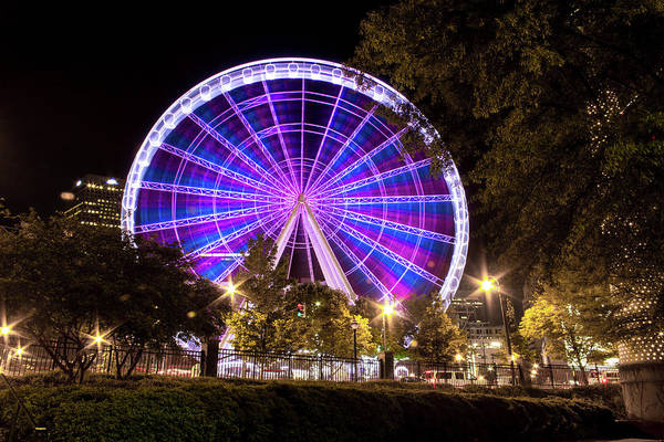 Photograph - Ferris Wheel At Centennial Park 1 by Kenny Thomas