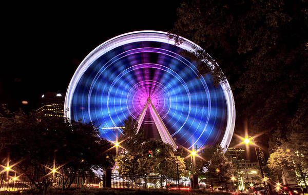 Photograph - Ferris Wheel At Centennial Park 2 by Kenny Thomas