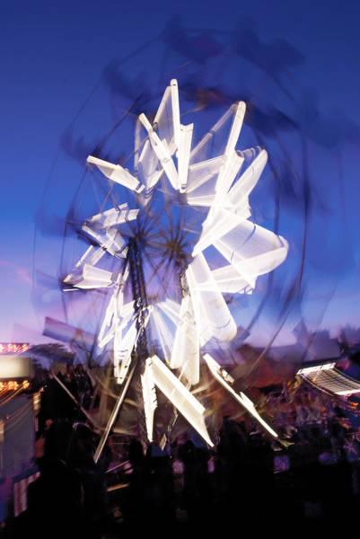 Photograph - Ferris Wheel At Dusk-2 by Steve Somerville