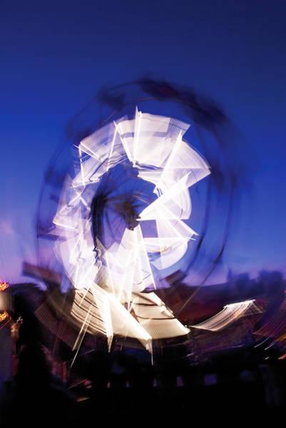 Photograph - Ferris Wheel At Dusk-3 by Steve Somerville