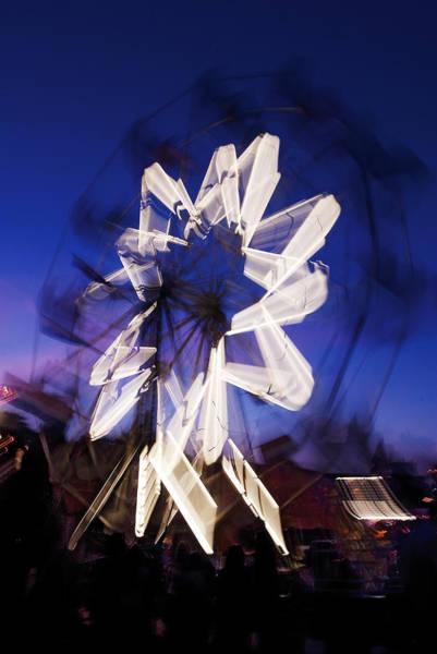 Photograph - Ferris Wheel At Dusk by Steve Somerville