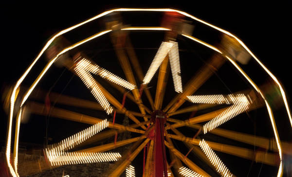 Photograph - Ferris Wheel At Night by Helen Northcott