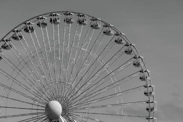 Photograph - Ferris Wheel B/w by Jennifer Ancker