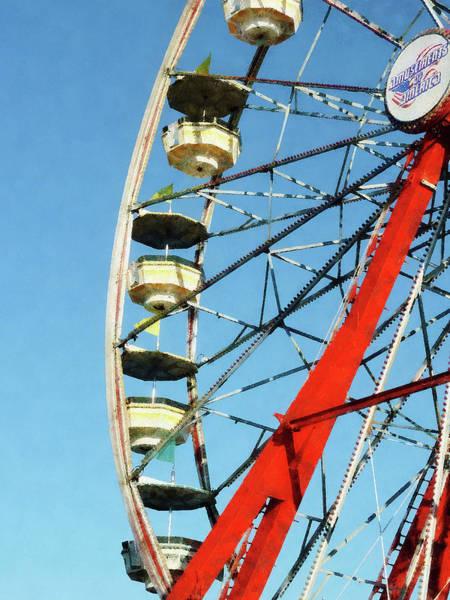 Photograph - Ferris Wheel Closeup by Susan Savad