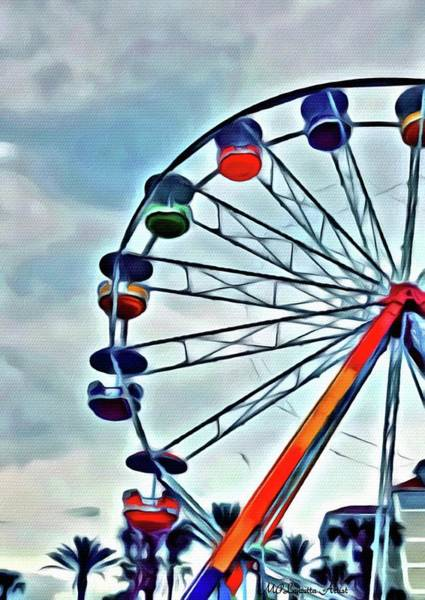 Painting - Ferris Wheel by Marian Palucci-Lonzetta