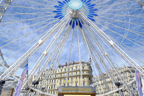Photograph - Ferris Wheel Marseille by August Timmermans
