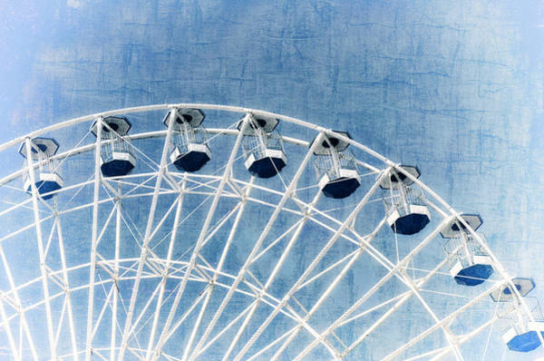 Photograph - Wonder Wheel Series 1 Blue by Marianne Campolongo