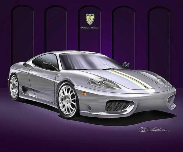 Car Drawings Mixed Media - Ferrrari Challenge Stradale by Danny Whitfield