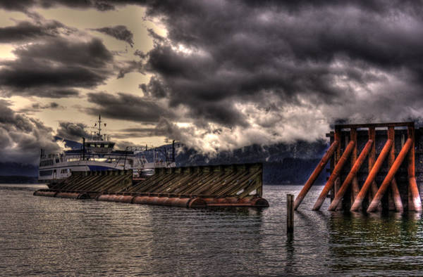 Photograph - Ferry At Kootenay Bay Bc by Lee Santa