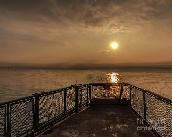 Photograph - Ferry Boat Sunrise by Rod Best