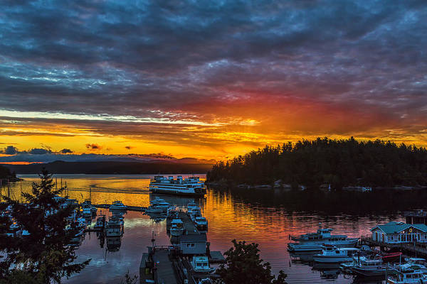San Juan Islands Wall Art - Photograph - Ferry Boat Sunrise by Thomas Ashcraft