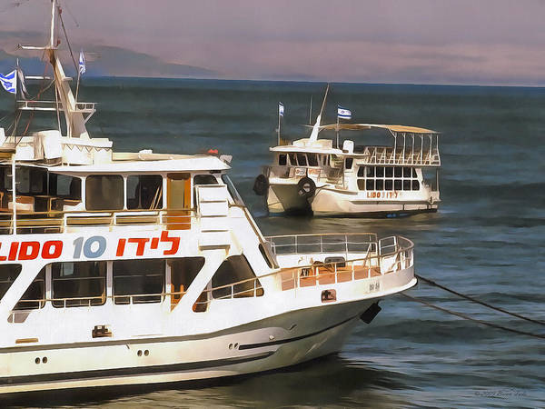 Photograph - Ferry Boats On Sea Of Galilee by Brian Tada