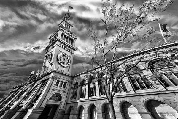 Ferry Building Black  White Art Print