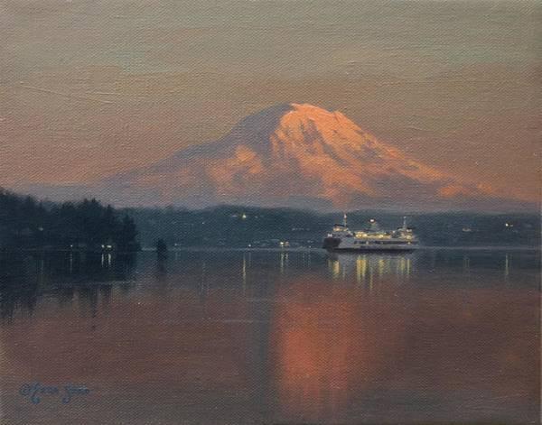 Tacoma Painting - Ferry Crossing by Ezra Suko