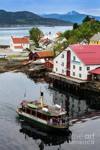 Wall Art - Photograph - Ferry In Harbour At Kristiansund, Norway by Sheila Smart Fine Art Photography
