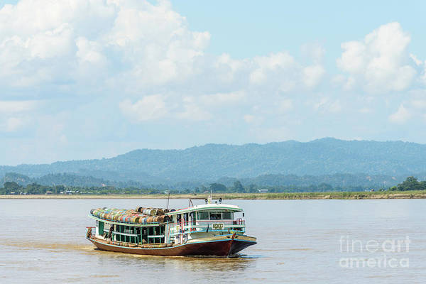 Photograph - Ferry On The Chindwin 3 by Werner Padarin
