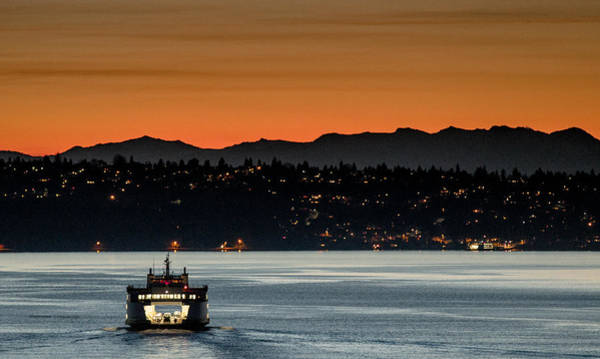 Photograph - Ferry Sealth At Dawn by E Faithe Lester