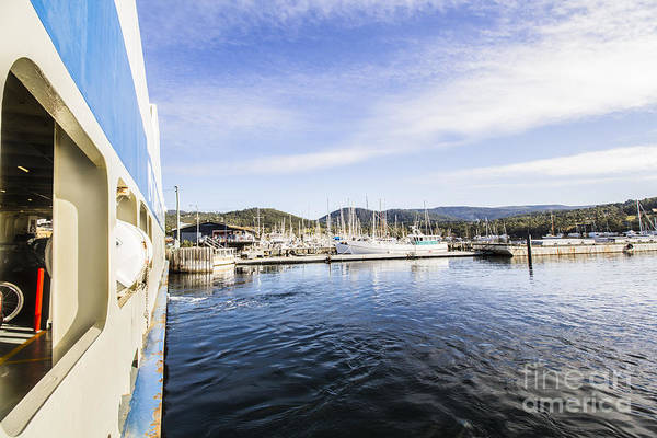 Harbour Island Photograph - Ferry To Bruny Island by Jorgo Photography - Wall Art Gallery