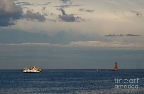 Aft Photograph - Ferry To Star Island by Marcia Lee Jones