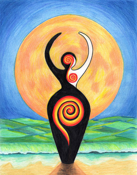 Pregnancy Mixed Media - Fertility Moon by Shannon Spencer