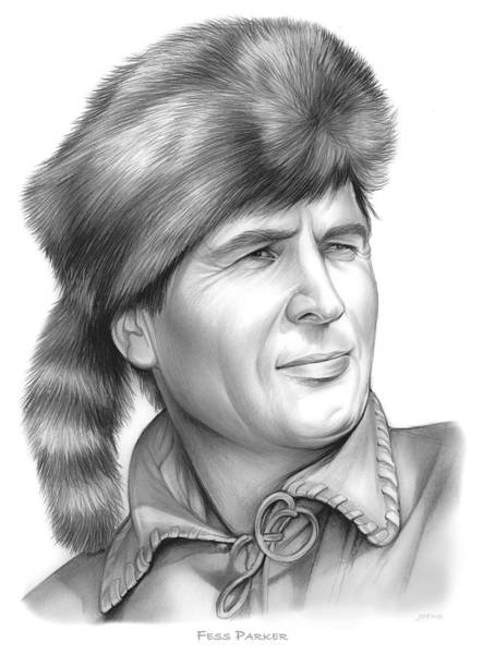 Television Drawing - Fess Parker by Greg Joens