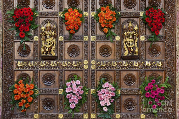 Hindu Goddess Wall Art - Photograph - Festival Gopuram Gates by Tim Gainey