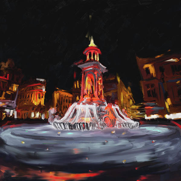 Wall Art - Painting - Festival Of Lights , Lyon 2 259 2 by Mawra Tahreem