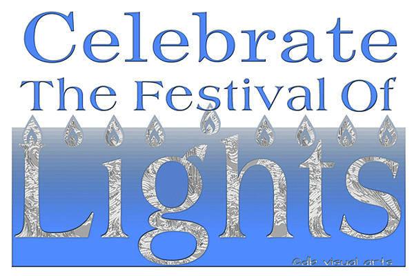 Digital Art - Festival Of Lights Hanukah by Denise Beverly