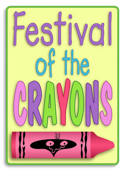 Digital Art - Festival Of The Crayons Sign by Becky Titus