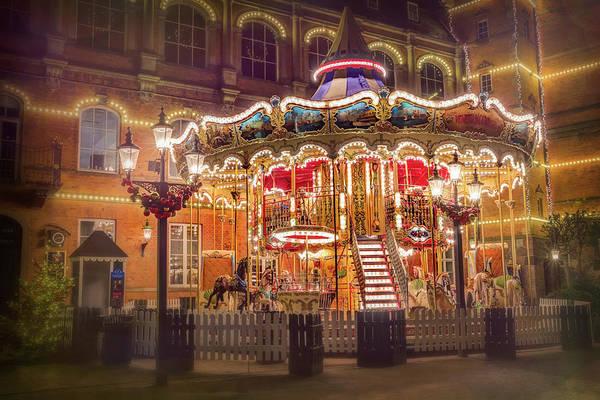 Fairgrounds Photograph - Festive Carousel Tivoli Gardens Copenhagen  by Carol Japp
