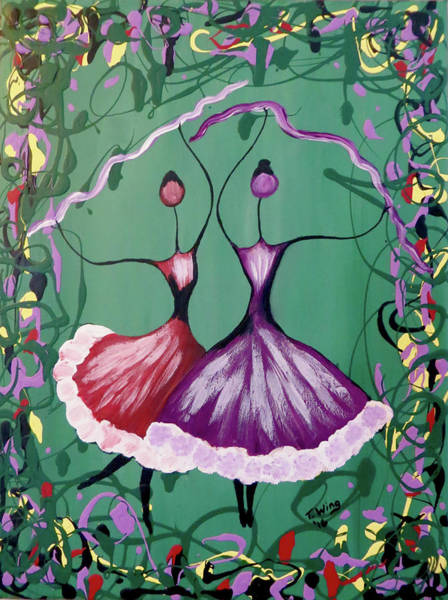 Painting - Festive Dancers by Teresa Wing
