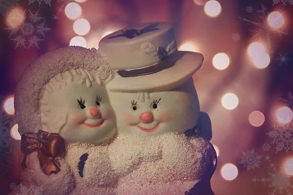 Snowman Photograph - Festive Friends by Carol Japp