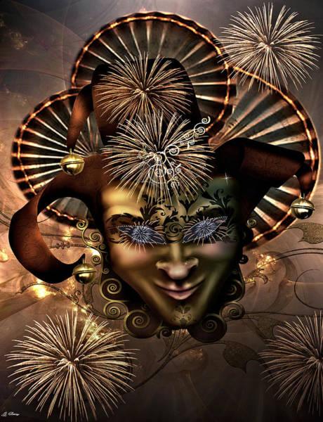 Joyous Mixed Media - Festive by G Berry