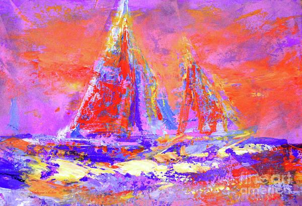 Festive Sailboats 11-28-16 Art Print
