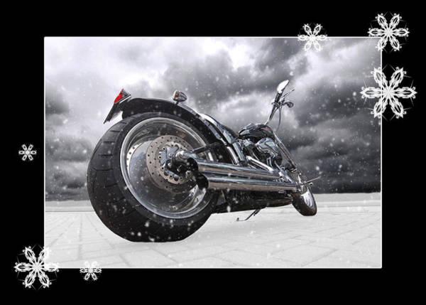 Photograph - Festive Storming Harley by Gill Billington