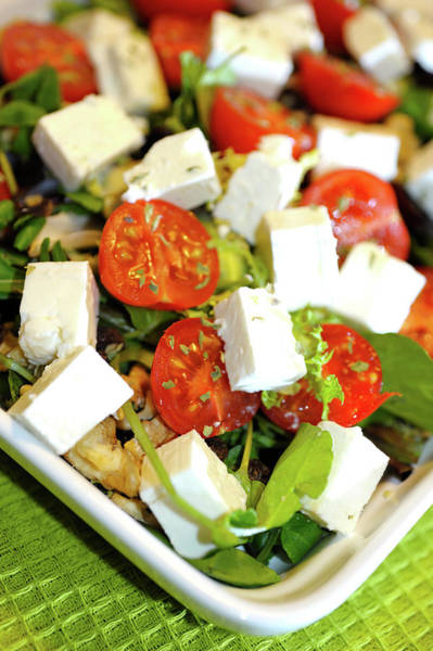 Photograph - Feta Cheese Salad by Jean Gill