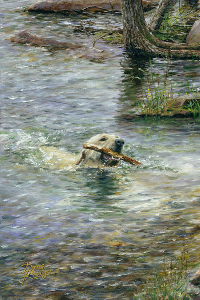 Labrador Painting - Fetch by Doug Kreuger