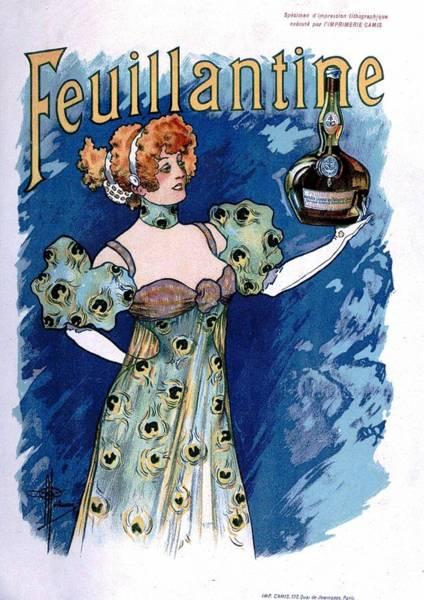 Whiskey Mixed Media - Feuillantine - French Alcoholic Liqueur - Vintage Advertising Poster by Studio Grafiikka