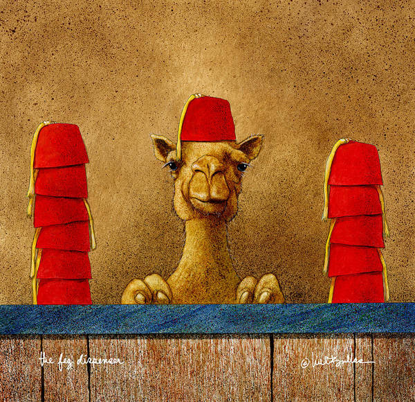 Camel Painting - Fez Dispenser... by Will Bullas