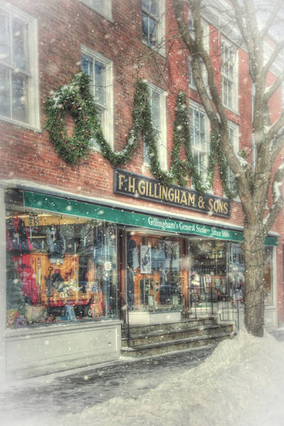 Photograph - F.h. Gillingham And Sons - Vermont General Store by Joann Vitali