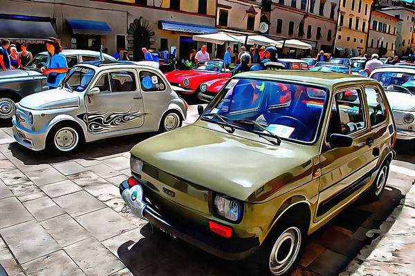 Photograph - Fiat 126 Front View by Dorothy Berry-Lound