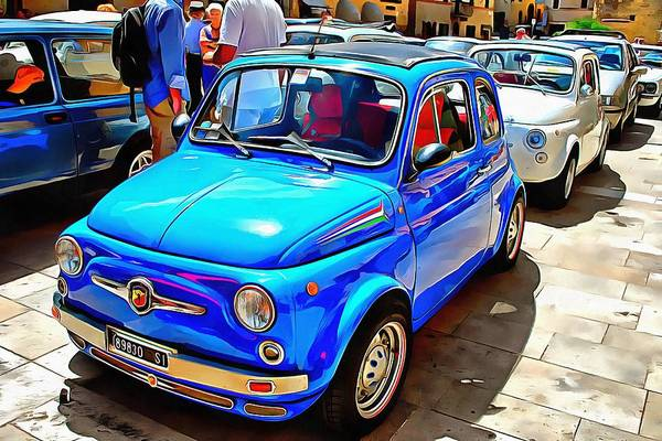 Photograph - Fiat 500 Abarth Blue Version by Dorothy Berry-Lound