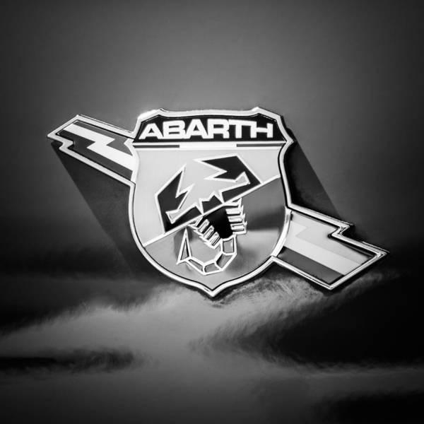 Photograph - Fiat Abarth Emblem -ck1611bw2 by Jill Reger