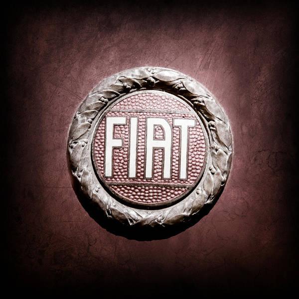 Wall Art - Photograph - Fiat Emblem -1621ac by Jill Reger