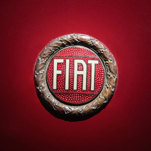 Wall Art - Photograph - Fiat Emblem -1621c by Jill Reger