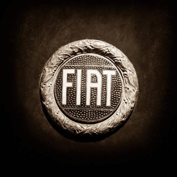 Wall Art - Photograph - Fiat Emblem -1621s by Jill Reger