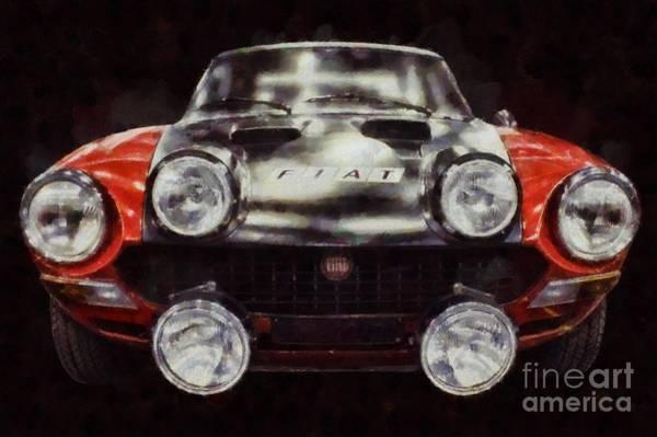 Maserati Painting - Fiat Pop Art by Sarah Kirk